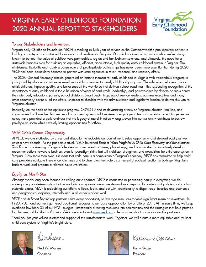 VECF Annual Report 2020