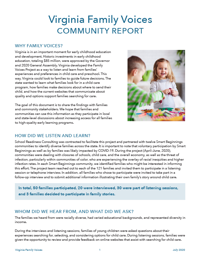 VECF Family Voices Report