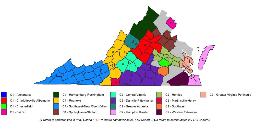 PDG B-5 Communities Map